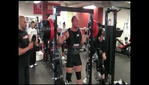 Richard Skog 345kg x 2 reps i knebøy