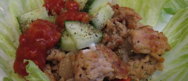 Kyllingkjøttdeig med grønnsaker