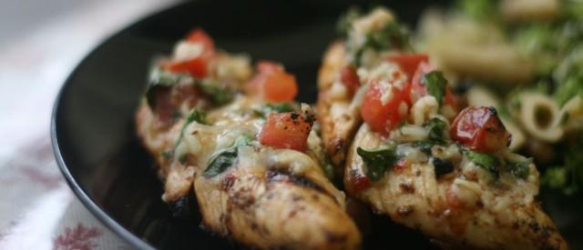 Bruschetta med kylling og pesto