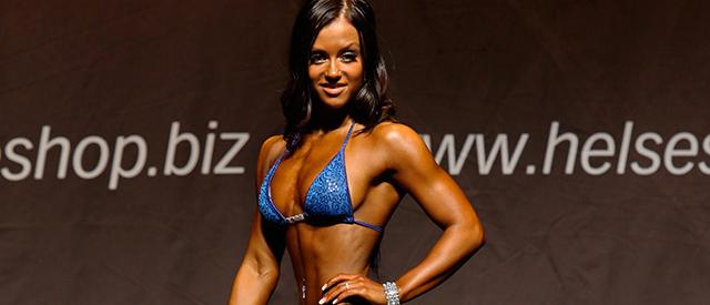 Lone Norås fra Lakselv vant bikinifitness under Norway Open