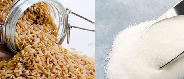 Forskjellen mellom sukker og brun ris er mindre enn du tror