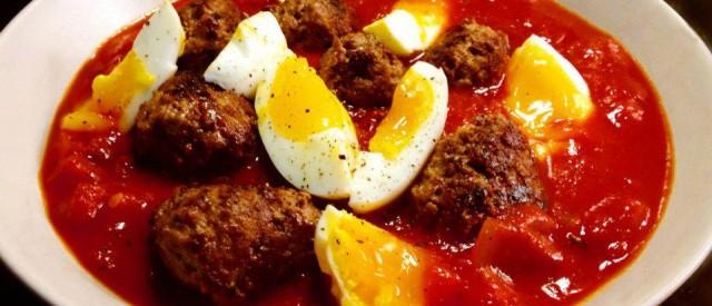 Tomatsuppe med kjøttboller