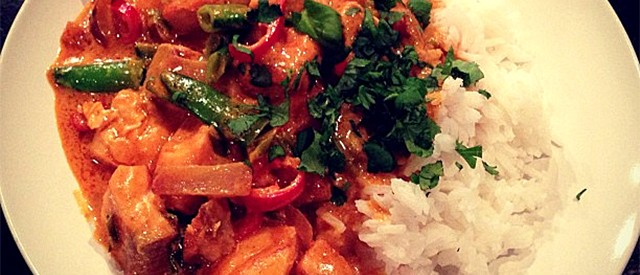 Thai red curry laks