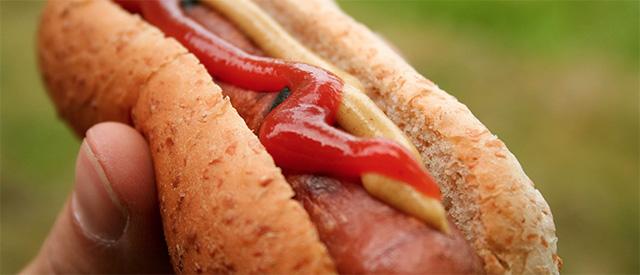 Bare litt over 50 prosent kjøtt i pølsa