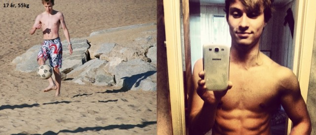Stig Sannes (21) la på seg 15 kilo på 2 år med tung styrketrening