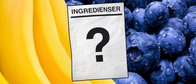 Hvordan ville det sett ut om banan, blåbær og egg hadde ingredienslister?