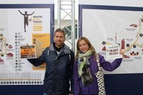 De løper og løper - Aleksander Bjargo og Melissa Thelwall Bjargo møttes på et treningssenter. Begge foretrekker å løpe både halvmaraton og helmaraton på fastende mage, og sverger til LCHF/paleo.