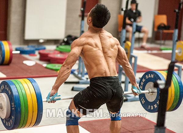 Lu Xiaojun (-77) med øvelsen Rykkdrag. Drag øvelser hadde stort fokus i denne studien.