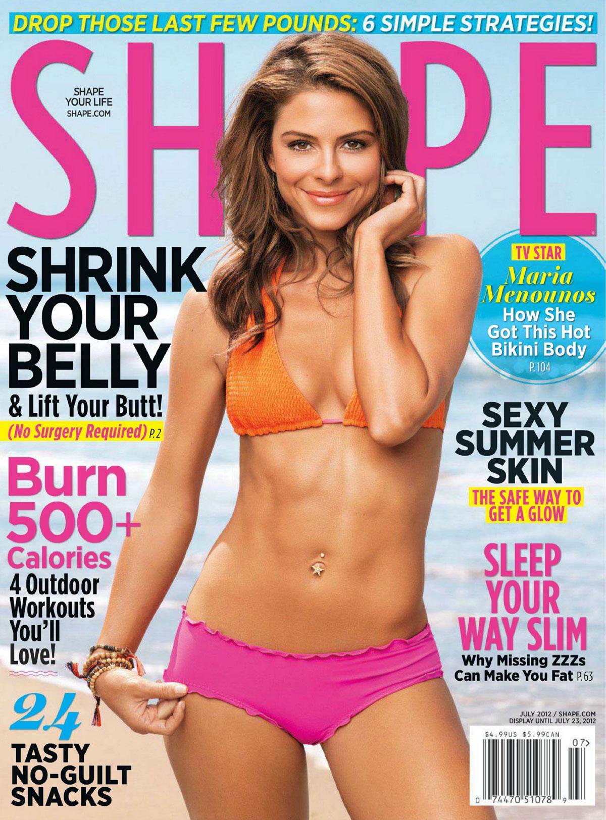MARIA MENOUNOS in Shape Magazine