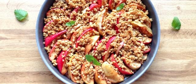Sukkerfri epleform med crunchy topping