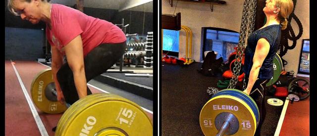 Kari er 56 år gammel, 5-barnsmor, og tar 160 kg i markløft!