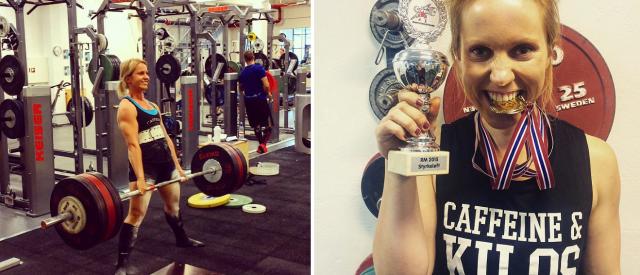 Kamilla løftet seg til norgesrekord med 170 kg i markløft!