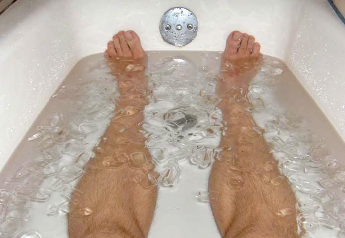running-ice-bath