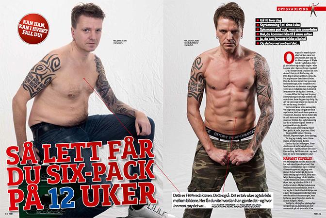 46b88343 Ga FHM-redaktøren sixpack på 12 uker - Fitnessbloggen