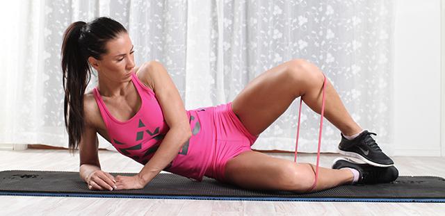 trene siden av magen